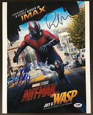 PAUL RUDD EVANGELINE LILLY SIGNED 11X14 PHOTO AUTOGRAPH PSA ANT-MAN AND THE WASP