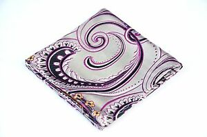 Lord R Colton Masterworks Pocket Square - Silver Pink Supremacy - Silk $75 New