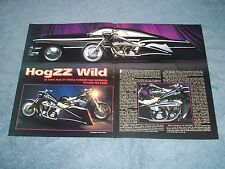 "1991 ZZ Top Custom Harley-Davidson Motorcycle Article ""HogZZ Wild"""