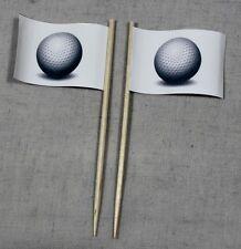 Party-Picker Golfball Golf 50 St Dekopicker Profiqualität Käsepicker Flagge Food