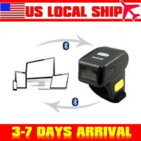 Portable Wearable Ring Barcode Scanner 1D Reader Mini Bluetooth Scanner For IOS