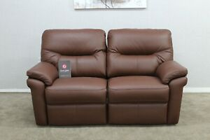 G Plan Seattle Cambridge Conker Leather Electric 2.5 Seater Sofa RRP £3360
