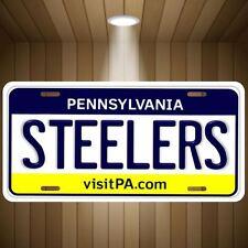 STEELERS AFC NFL Pittsburgh Pennsylvania Football Team Vanity License Plate Tag