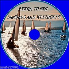 LEARN HOW 2 SAIL SMALL BOAT KEELBOAT & DINGHIES BEGINNERS SAILING SKILLS DVD NEW