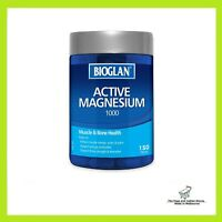 Bioglan Active Magnesium Reduce Cramps Muscle Recovery Muscle Health 150 Tablets