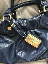 Marc By Marc Jacobs Classic Q Baby Groovee Leather Bag, Blue, EUC, $378 Retail!