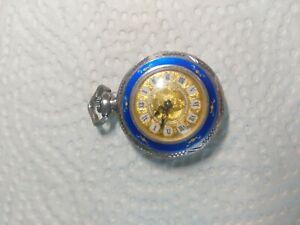 Damen Taschenuhr Nisyse 925Silber emaile