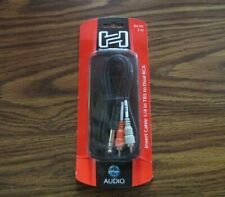 """Hosa Technology TRS-202 (2M) Stereo 1/4"""" Male to Two RCA Male Y-Cable"""
