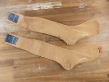 BRESCIANI 2 pairs over the calf tan color cotton socks - Size 42 / Medium - NWT