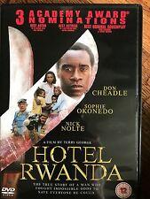 Don Cheadle Sophie Okonedo HOTEL RWANDA ~ 2004 African Genocide Drama UK DVD
