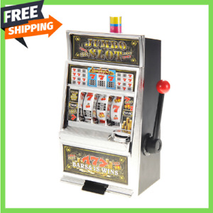 Jumbo Slot Machine Money Bank Realistic Casino Sounds Jackpot Lights Game Toy