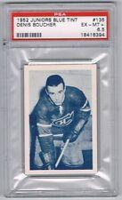 1952-53 Juniors Blue TintHockey Card Montreal #135 Denis Boucher Graded PSA 6.5