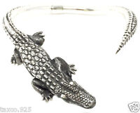 IGNACIO GOMEZ TAXCO MEXICAN 950 STERLING SILVER CROCODILE NECKLACE MEXICO