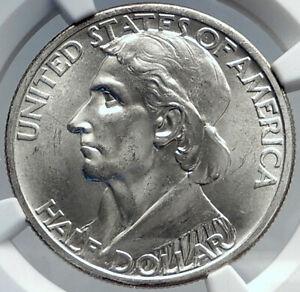 1935 DANIEL BOONE 200th Commemorative US Silver Half Dollar Coin NGC MS i82201