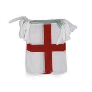 Double Sided Fabric St George Cross Bunting Flag 5m (16ft) England Football
