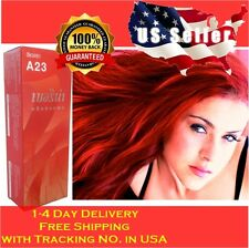 BERINA A23 BRIGHT RED PERMANENT HAIR DYE COLOR CREAM PUNK STYLE ❤️ US SELLER