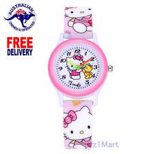 NEW HELLO KITTY Silicone Girls Watch Children Kids Students Cartoon Wristwatch