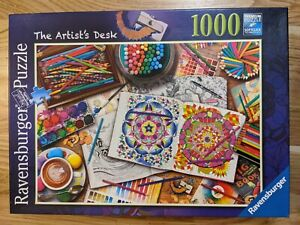 Ravensburger 1000 piece jigsaw puzzle -  The Artist's Desk complete