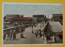View From the Pier Long Beach CA 1910 Era Early Scene postcard Nice SEE!
