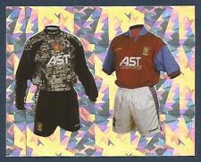 MERLIN-1996-PREMIER LEAGUE 96- #455-ASTON VILLA HOME KITS-FOIL