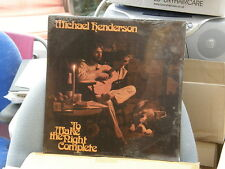 Michael Henderson hacer noche Sellado Usa Original Folk Rock Psico LP Sellado