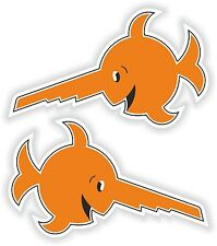2X STICKERS LAUGHING SAWFISH German submarine u-boat or
