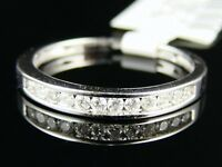 1/4 Ct 14K Wg Channel Diamond Wedding Band Ring .25 Ct
