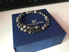 GENUINE Swarovski TWISTY Crystal Bangle Bracelet Cuff - Swan Hallmarked