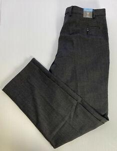 "M&S W36"" L33"" Long REG FIT Dress Trousers PERFORMANCE Wool Blend STRETCH £59"