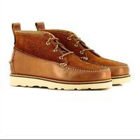 G H Bass & Co // Camp Moc III Ranger //  Mens Tan Boots  // NEW!!!