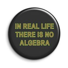 Twin Peaks In Real Life There Is No Algebra Cult TV Button Magnet 38mm/1.5 inch