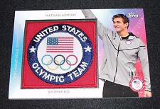 2016 Topps NATHAN ADRIAN Team Patch USA Insert/99 US Men's Olympic Swimming CAL