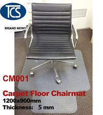 TCS Carpet Floor Protector Office Vinyl Chair Mat 1200 X 900mm Hard Plastic