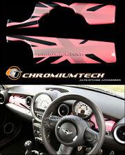Mini Cooper/S/One R55 R56 R57 R58 R59 Pink cubierta del panel de panel de control de Unión Jack LHD