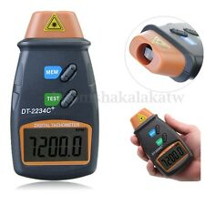 DIGITAL LCD LASER TACHOMETER - HANDHELD RPM REV COUNTER TACHO KIT WITH CASE NEW