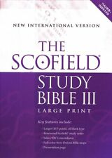 The Scofield Study Bible III, Large Print, NIV Thumb-Indexed  Bonded Leather