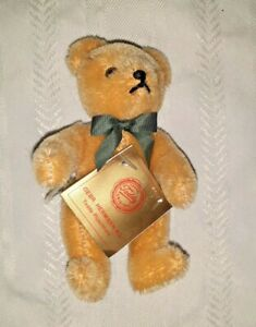 """Hermann Jointed Teddy Bear 5""""  Complete with tags  Nr Mint  W. Germany"""