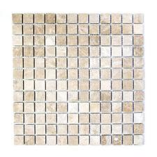 Marmor Mosaik Emperador Light tumbled Wand WC Fliesenspiegel WB43-46166|1 Matte