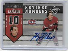 GUY LAFLEUR 2010/11 PANINI LIMITED RETIRED NUMBERS AUTOGRAPH #02/49