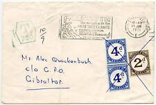 GIBRALTAR POSTAGE DUE UNPAID from SHEFFIELD GB CHARGED 10d 1971