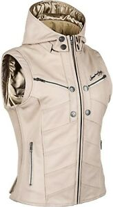 NOS SPEED AND STRENGTH 884290 HELLS BELLES LEATHER VEST CREAM SIZE WOMENS 2XL