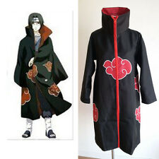 Naruto Akatsuki Itachi Uchiha Deluxe Men's Cosplay Costume Cloak Robe