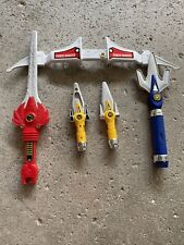 Mighty Morphin Power Rangers 5 in 1 Power Blaster Weapon MMPR 1995 - Partial Set