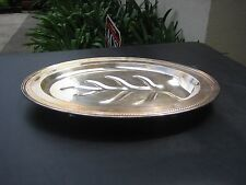 Vintage Footed Serving  Meat Tray Art Deco