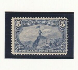 USA Stamps 1898 Scott # 288 Fremont on the Rocky Mountains 5 Cent Mint H