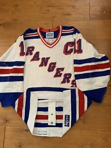 80's Authentic Gerry Cosby CCM New York Rangers Kelly Kisio Hockey Jersey 46