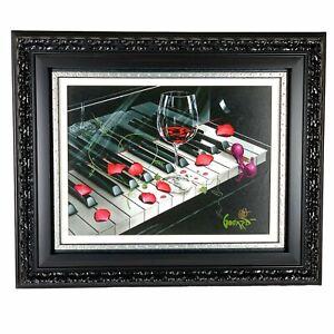 "Michael Godard ""Piano Keys"" Giclee on Canvas Hand-Embellished Signed Limited Ed."