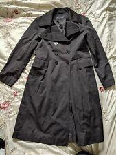 Womens ANNE KLEIN Black Lined Rain Coat Dress Coat Size Large