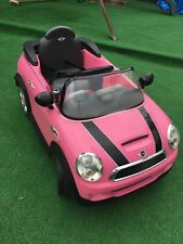 Mini Cooper pink  Electric Ride on Toy Car & Charger kids