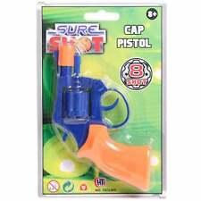 Sure Shot 8 Ring Shot Toy Cap Pistol Revolver in Blue and Orange